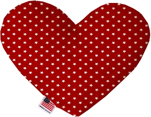 Red Stars 8 inch Heart Dog Toy